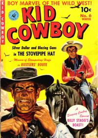 Cover Thumbnail for Kid Cowboy (Ziff-Davis, 1950 series) #6
