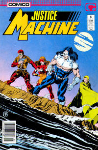 Cover Thumbnail for Justice Machine (Comico, 1987 series) #5