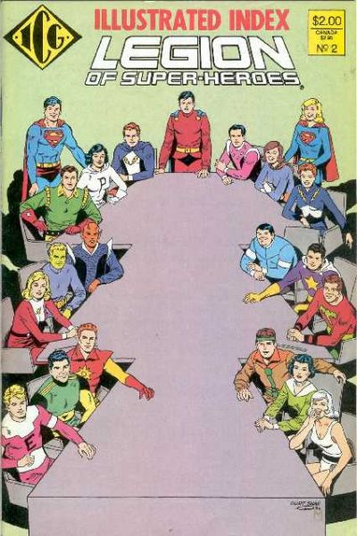 Cover for The Official Legion of Super-Heroes Index (Independent Comics Group, 1986 series) #2