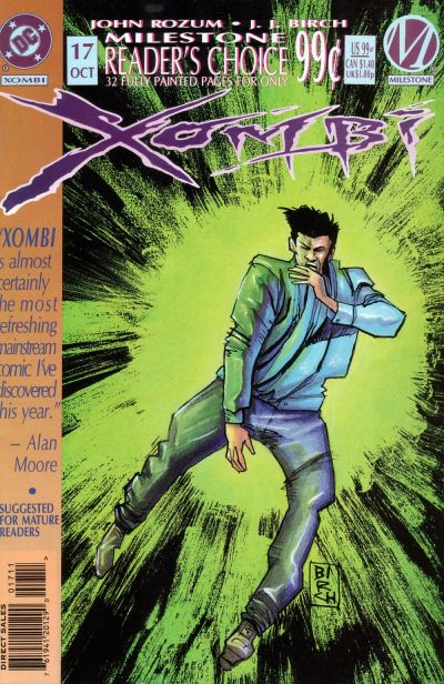 Cover for Xombi (DC, 1994 series) #17