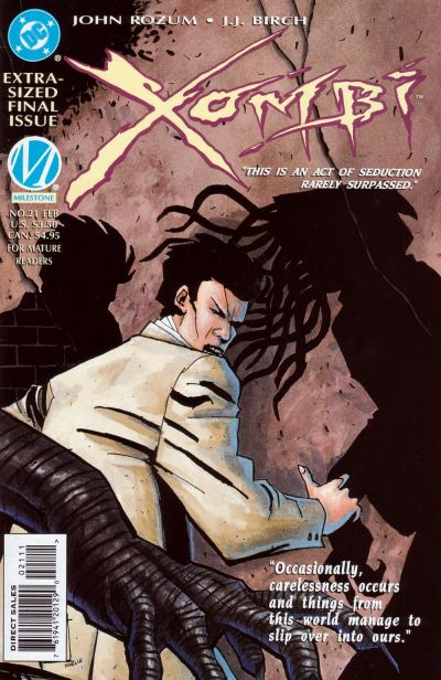 Cover for Xombi (DC, 1994 series) #21