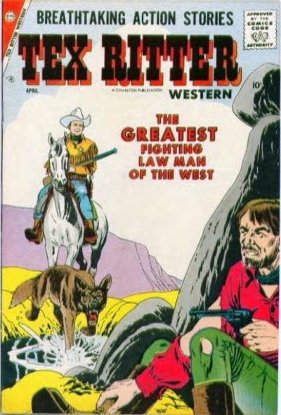Cover for Tex Ritter Western (Charlton, 1954 series) #40