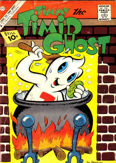 Cover for Timmy the Timid Ghost (Charlton, 1956 series) #27 [British]