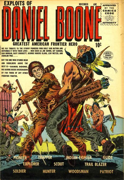 Cover for Exploits of Daniel Boone (Quality Comics, 1955 series) #1