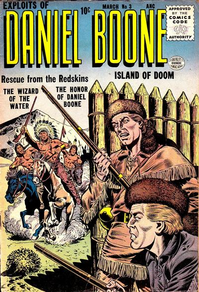 Cover for Exploits of Daniel Boone (Quality Comics, 1955 series) #3