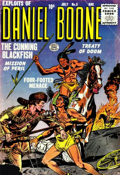 Cover for Exploits of Daniel Boone (Quality Comics, 1955 series) #5