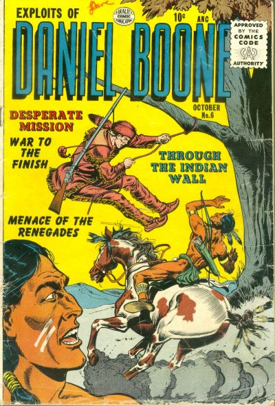 Cover for Exploits of Daniel Boone (Quality Comics, 1955 series) #6