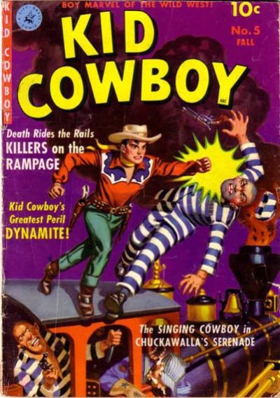 Cover for Kid Cowboy (Ziff-Davis, 1950 series) #5