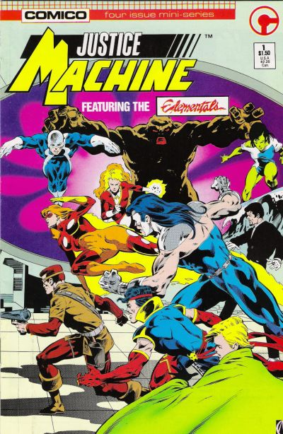 Cover for Justice Machine Featuring The Elementals (Comico, 1986 series) #1