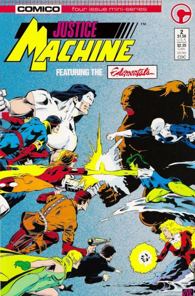 Cover for Justice Machine Featuring The Elementals (Comico, 1986 series) #2