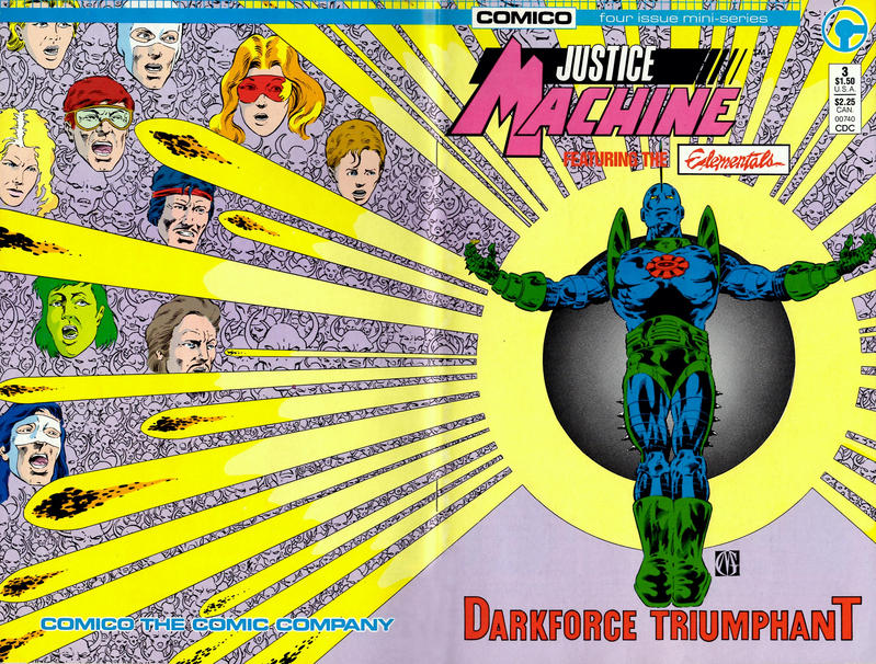 Cover for Justice Machine Featuring The Elementals (Comico, 1986 series) #3
