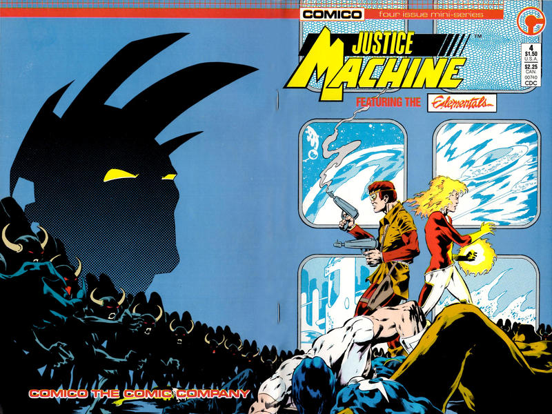 Cover for Justice Machine Featuring The Elementals (Comico, 1986 series) #4