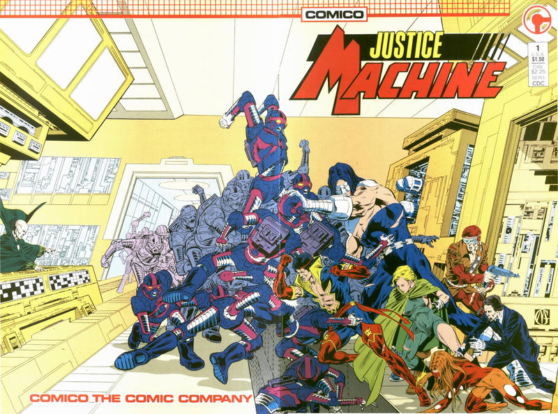 Cover for Justice Machine (Comico, 1987 series) #1