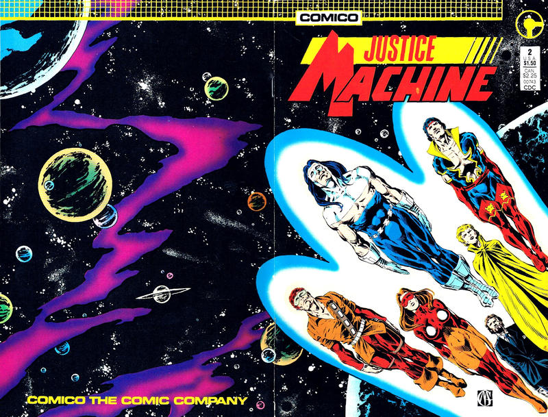 Cover for Justice Machine (Comico, 1987 series) #2