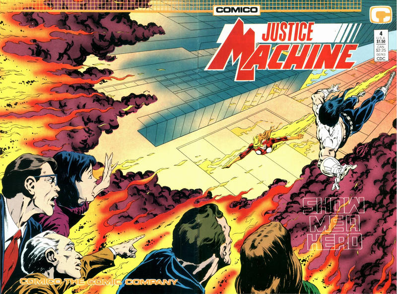 Cover for Justice Machine (Comico, 1987 series) #4
