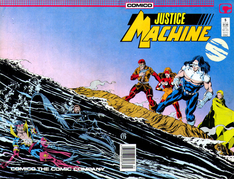 Cover for Justice Machine (Comico, 1987 series) #5
