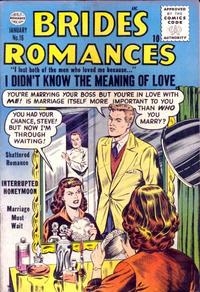 Cover Thumbnail for Brides Romances (Quality Comics, 1953 series) #16