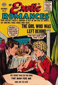 Cover Thumbnail for Exotic Romances (Quality Comics, 1955 series) #23
