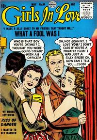 Cover Thumbnail for Girls in Love (Quality Comics, 1955 series) #54