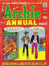 Cover Thumbnail for Archie Annual Digest (Archie, 1975 series) #27