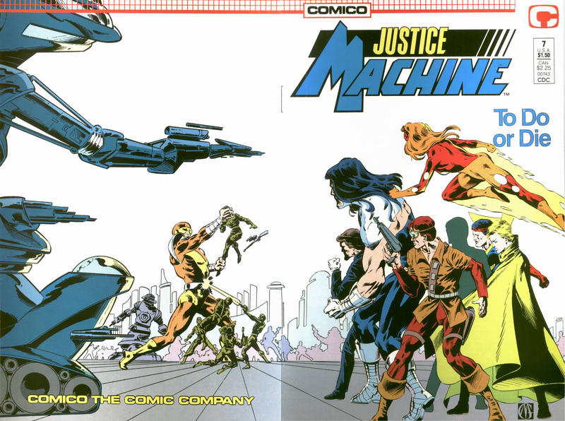 Cover for Justice Machine (Comico, 1987 series) #7