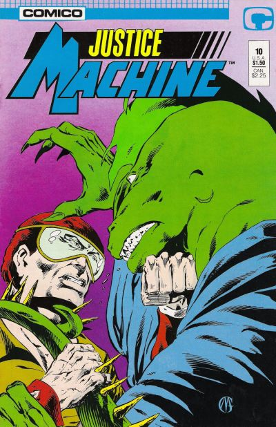 Cover for Justice Machine (Comico, 1987 series) #10