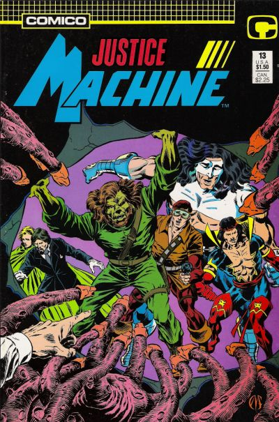 Cover for Justice Machine (Comico, 1987 series) #13