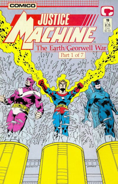 Cover for Justice Machine (Comico, 1987 series) #19