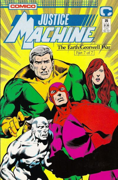 Cover for Justice Machine (Comico, 1987 series) #25
