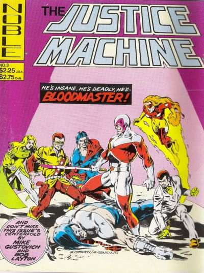 Cover for Justice Machine (Noble Comics, 1981 series) #3