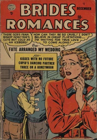 Cover for Brides Romances (Quality Comics, 1953 series) #2