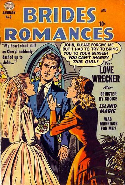 Cover for Brides Romances (Quality Comics, 1953 series) #9