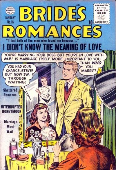 Cover for Brides Romances (Quality Comics, 1953 series) #16