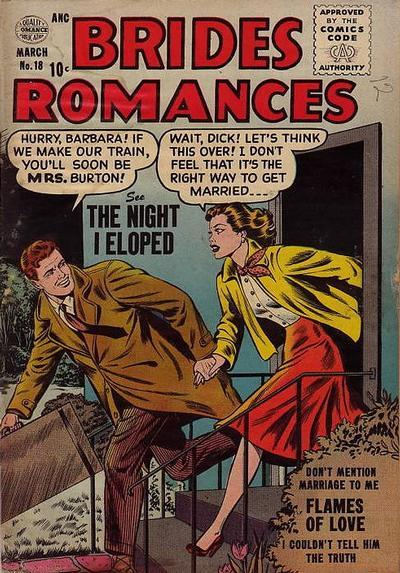 Cover for Brides Romances (Quality Comics, 1953 series) #18
