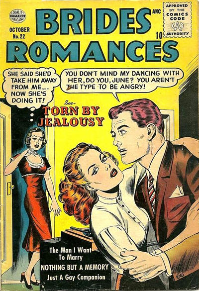 Cover for Brides Romances (Quality Comics, 1953 series) #22