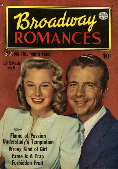Cover for Broadway Romances (Quality Comics, 1950 series) #5