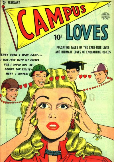 Cover for Campus Loves (Quality Comics, 1949 series) #2