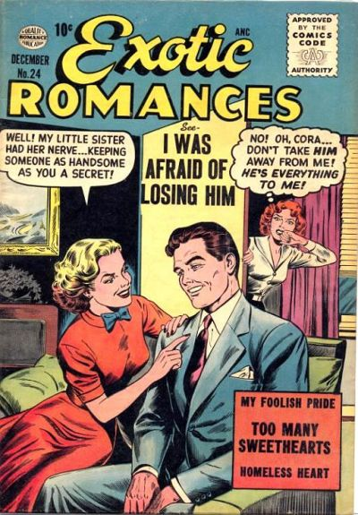 Cover for Exotic Romances (Quality Comics, 1955 series) #24