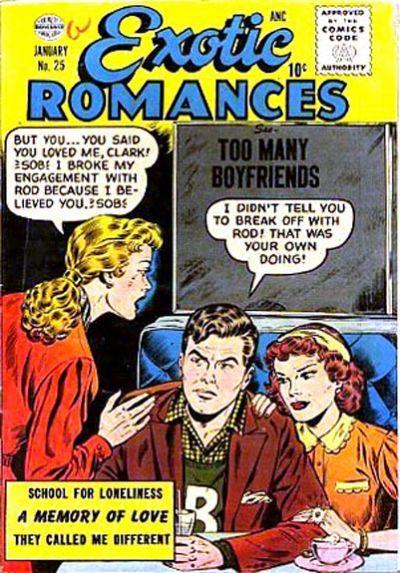 Cover for Exotic Romances (Quality Comics, 1955 series) #25