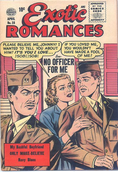 Cover for Exotic Romances (Quality Comics, 1955 series) #28