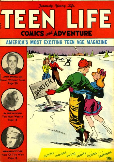 Cover for Teen Life Comics and Adventure (New Age Publishers, Inc., 1945 series) #3