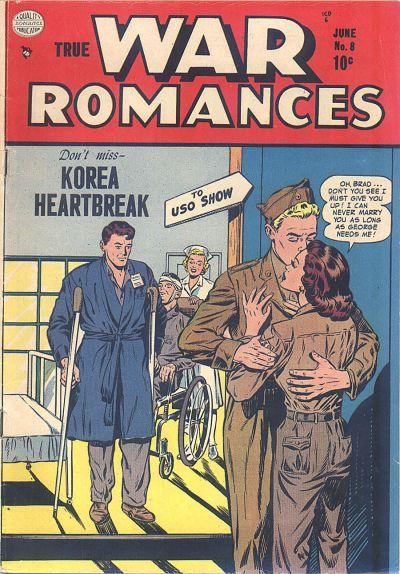 Cover for True War Romances (Quality Comics, 1952 series) #8
