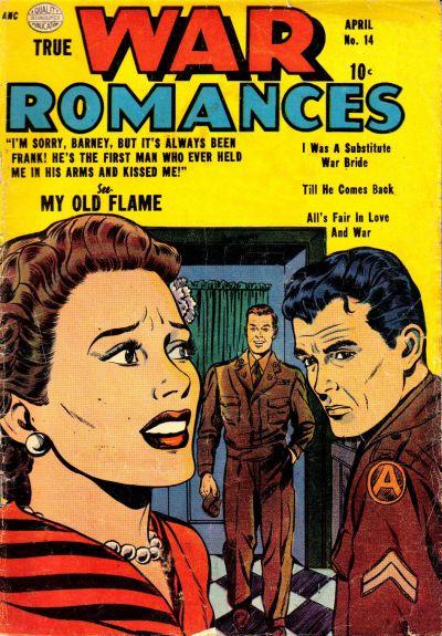Cover for True War Romances (Quality Comics, 1952 series) #14