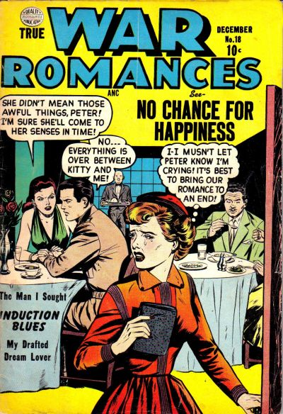 Cover for True War Romances (Quality Comics, 1952 series) #18