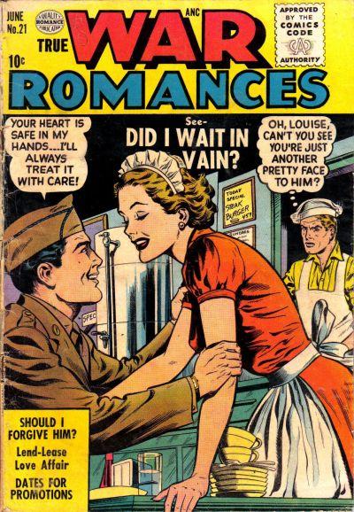 Cover for True War Romances (Quality Comics, 1952 series) #21