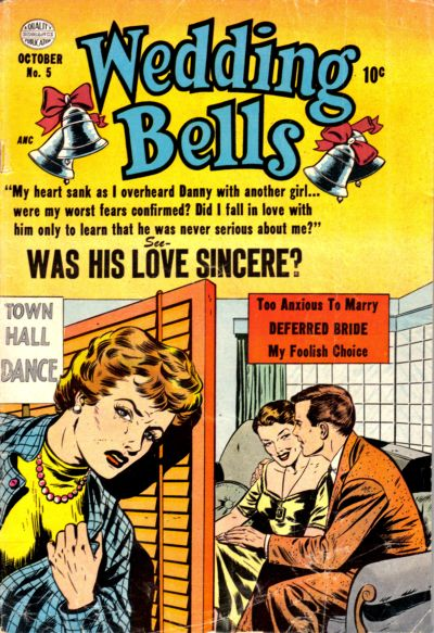Cover for Wedding Bells (Quality Comics, 1954 series) #5