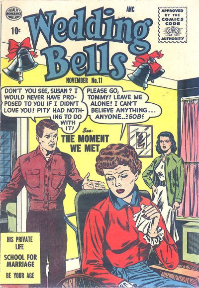 Cover for Wedding Bells (Quality Comics, 1954 series) #11