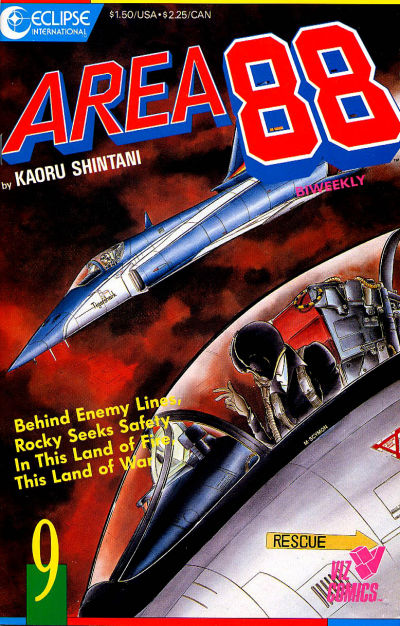 Cover for Area 88 (Eclipse; Viz, 1987 series) #9