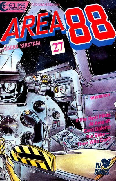Cover for Area 88 (Eclipse; Viz, 1987 series) #27