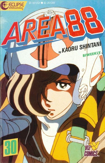 Cover for Area 88 (Eclipse; Viz, 1987 series) #30
